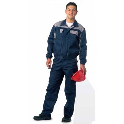 Pantalón linea 1 recto, multibolsillos bicolor y elástico en cintura