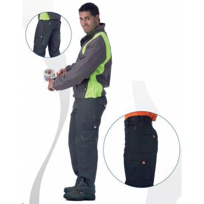 Pantalón de trabajo multibolsillos combinado