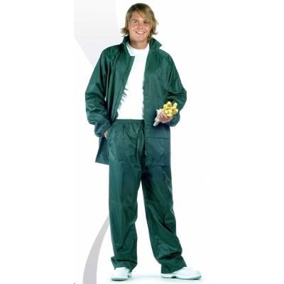 Traje de agua. Conjunto de pantalón y chaqueta impermeables.