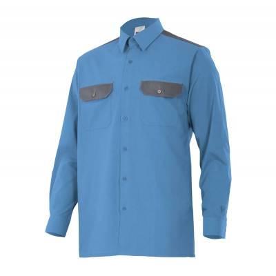 Camisa bicolor de manga larga