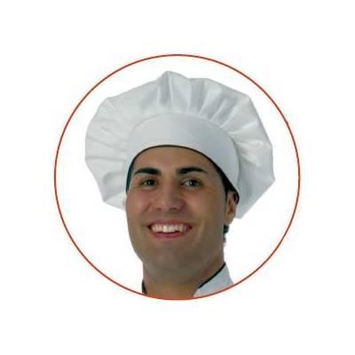 Gorro liso de cocina con velcro y vivo a contraste. Talla única