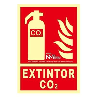 Señal EXTINTOR CO2...