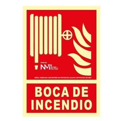 Señal BOCA DE INCENDIO...
