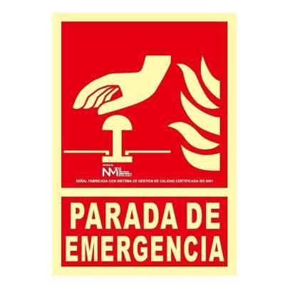 Señal PARADA DE EMERGENCIA...