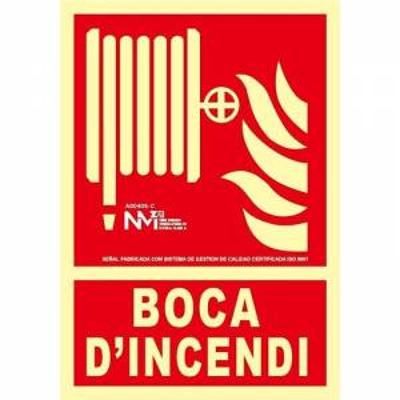 SEÑAL BOCA D'INCENDI...