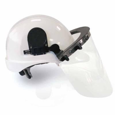 Casco con visor dieléctrico
