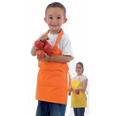 Delantal de niño con peto y bolsillo. Fabricación especial