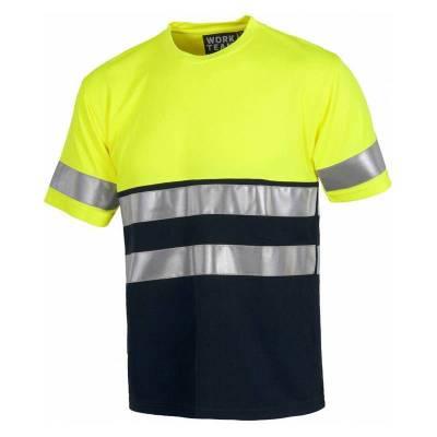 Camiseta bicolor de manga...