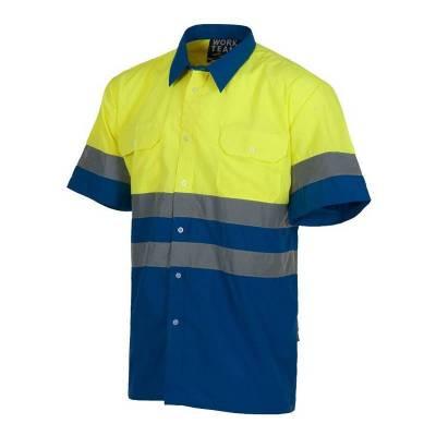 Camisa de trabajo bicolor...