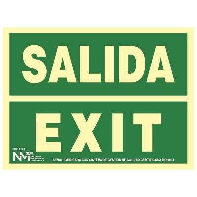 SEÑAL SALIDA EXIT CLASE B PVC