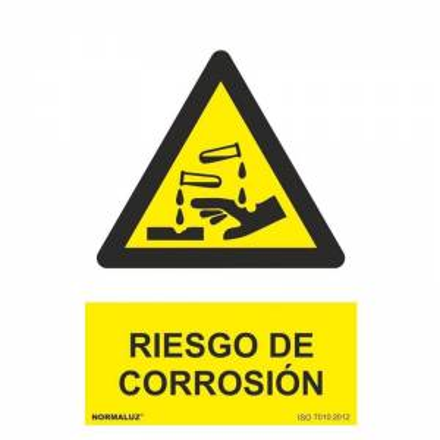 Señal RIESGO DE CORROSIÓN