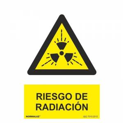 Señal RIESGO DE RADIACIÓN