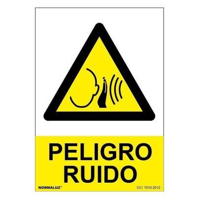SEÑAL PELIGRO RUIDO PVC...