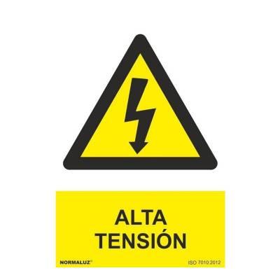 SEÑAL PELIGRO ALTA TENSION PVC
