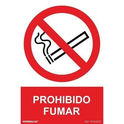 SEÑAL PROHIBIDO FUMAR PVC