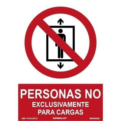 SEÑAL PROHIBIDO PERSONAS...