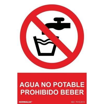SEÑAL PROHIBIDO AGUA NO...