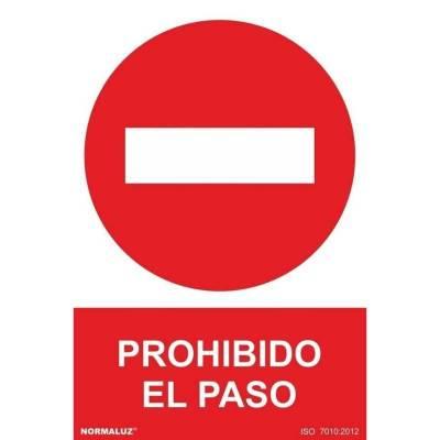SEÑAL PROHIBIDO EL PASO PVC