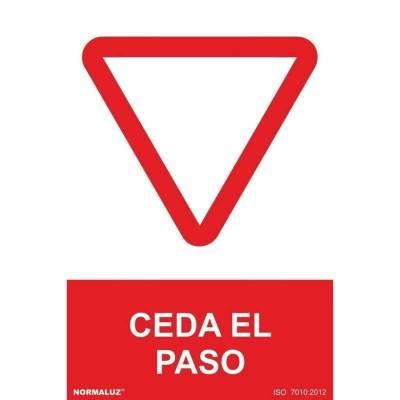 SEÑAL CEDA EL PASO PVC