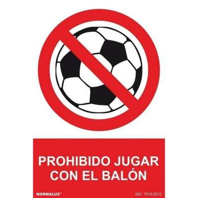 SEÑAL PROHIBIDO JUGAR BALON...