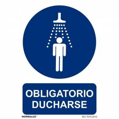 SEÑAL OBLIGATORIO DUCHARSE PVC