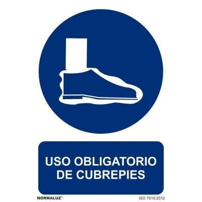 SEÑAL OBLIGATORIO CUBREPIES...