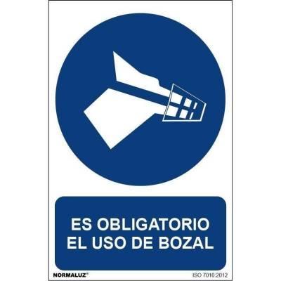 SEÑAL OBLIGATORIO BOZAL PVC