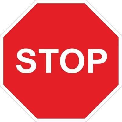 SEÑAL VIAL STOP ACERO...