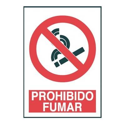 Señal de prohibición PROHIBIDO FUMAR