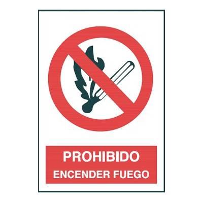 Señal PROHIBIDO ENCENDER FUEGO