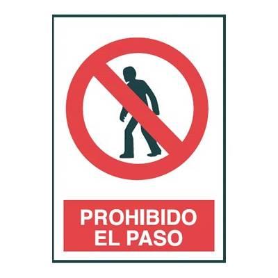 Señal PROHIBIDO EL PASO (persona)