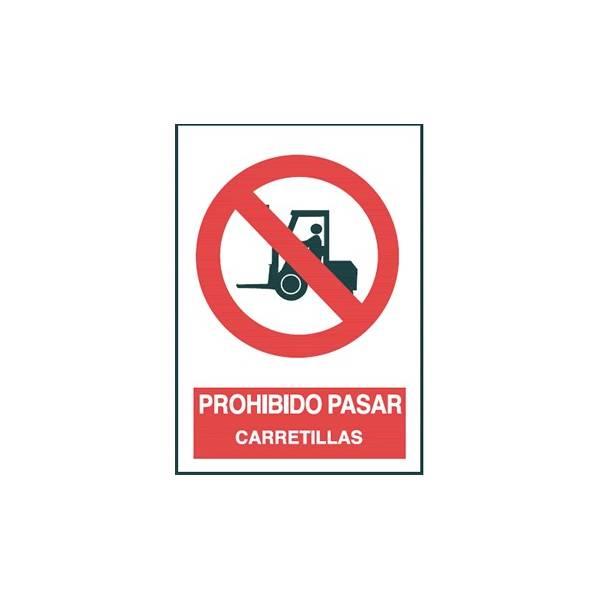Señal PROHIBIDO PASAR CARRETILLAS
