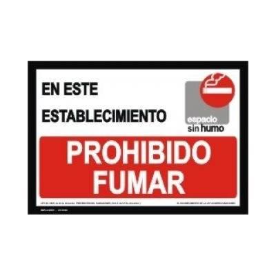 Señal EN ESTE ESTABLECIMIENTO PROHIBIDO FUMAR.