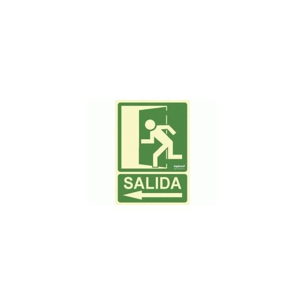 Señal Fotoluminiscente SALIDA ( flecha-izquierda)