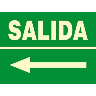 Señal fotoluminiscente SALIDA (flecha-izquierda)