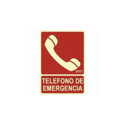 Señal TELÉFONO DE EMERGENCIA Fotoluminiscente.