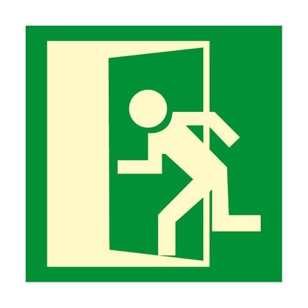 Señal fotoluminiscente SALIDA puerta izquierda