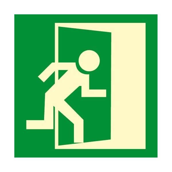 Señal fotoluminiscente SALIDA puerta derecha