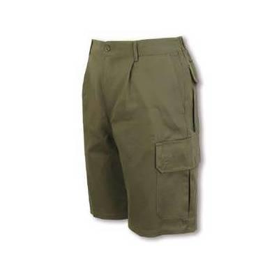 Bermuda multibolsillos con elástico en cintura. Con pinzas.Seis bolsillos VE344