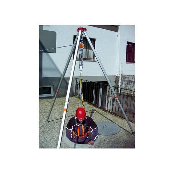 Dispositivo descensor y de rescate con reducción 1:3