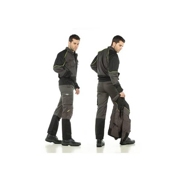 Pantalón tergal 245 g. Color gris oscuro/negro