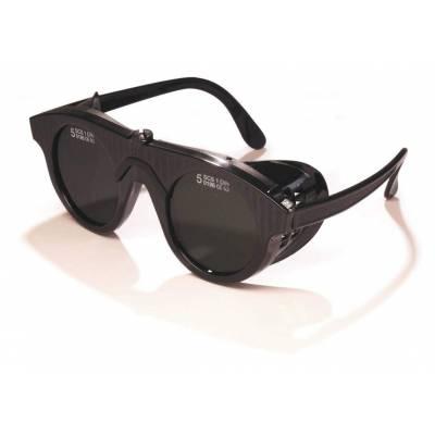 Gafa para soldadura autógena europe tipo universal, en color negro, con oculares de 50 mm de tono 5