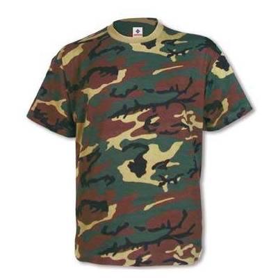Camiseta camuflaje 100% algodón