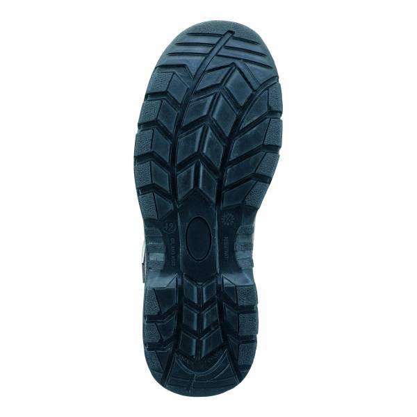 Zapato de seguridad piel serraje marrón S1P con suela de Poliuretano