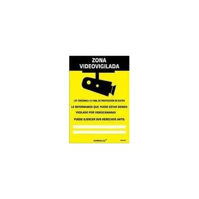 Cartel PVC 0.7mm ZONA VIDEOVIGILADA 21x30