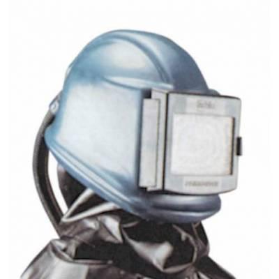 Pantalla preparada para conexión de aire con tubo corrugado y válvula de regulación de flujo de aire