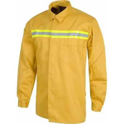 Camisa ignífuga con una cinta reflectante. 100% Algodón. EN531. EN470.