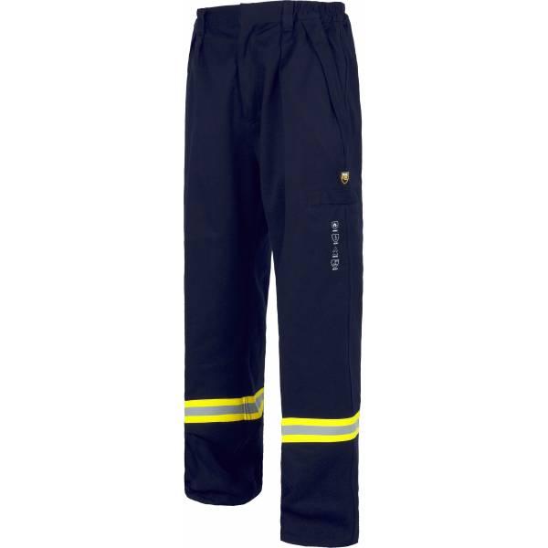Pantalón de trabajo ignífugo y antiestático con cintura elástica en color marino