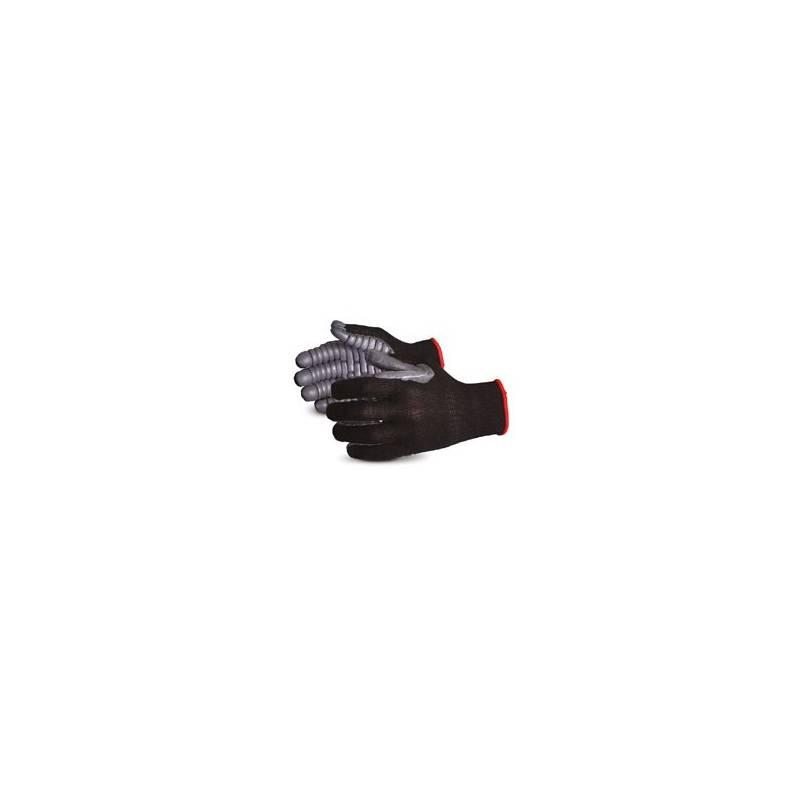 Guante antivibración con palma recubierta en cloropreno, sin costuras.