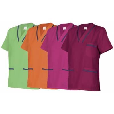 Casaca de manga corta bicolor